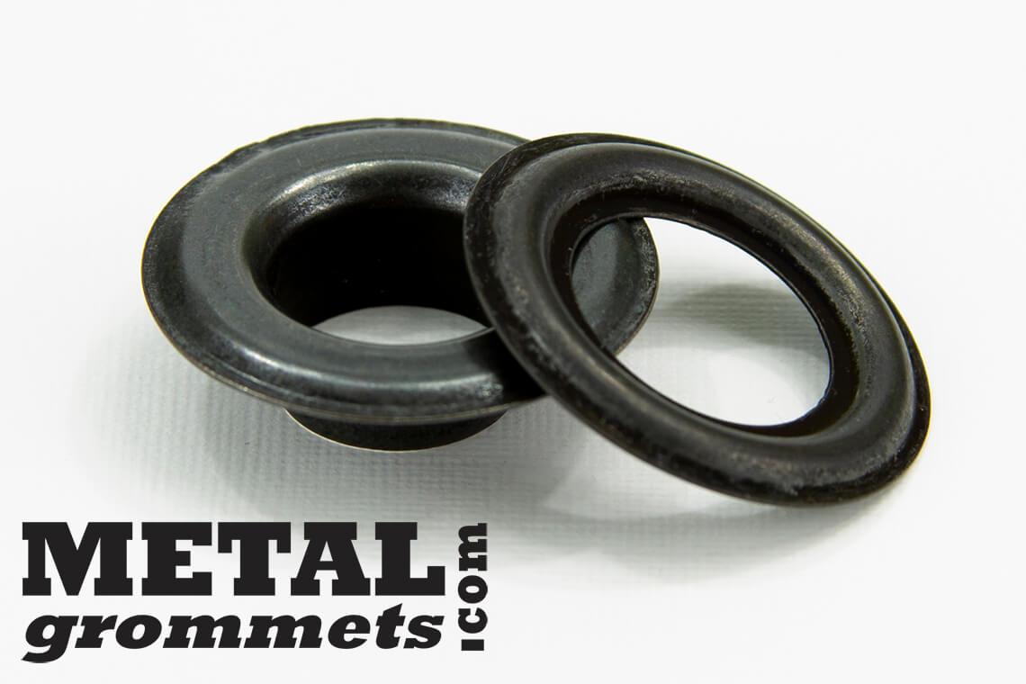 """NICKEL, BRASS or BLACK 500-5//16/"""" SELF PIERCING METAL GROMMETS #1"""
