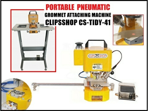 CS-TIDY-41 pneumatic grommet attacher machine ClipsShop METALgrommets.com