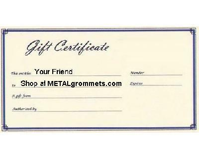 gift card maker  METALgrommets.com | ClipsShop Self Piercing Grommets | Grommet ...