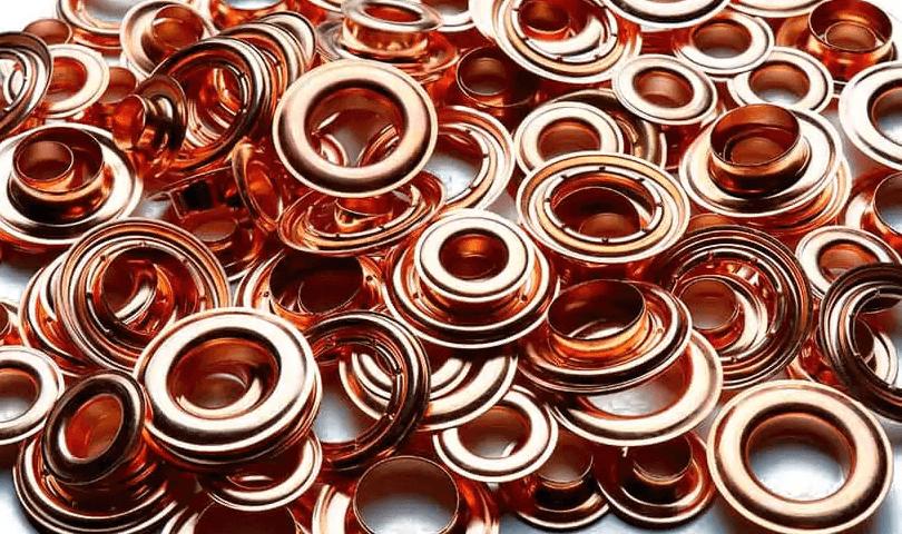 Self-piercing copper grommets have virus-killing antimicrobial properties